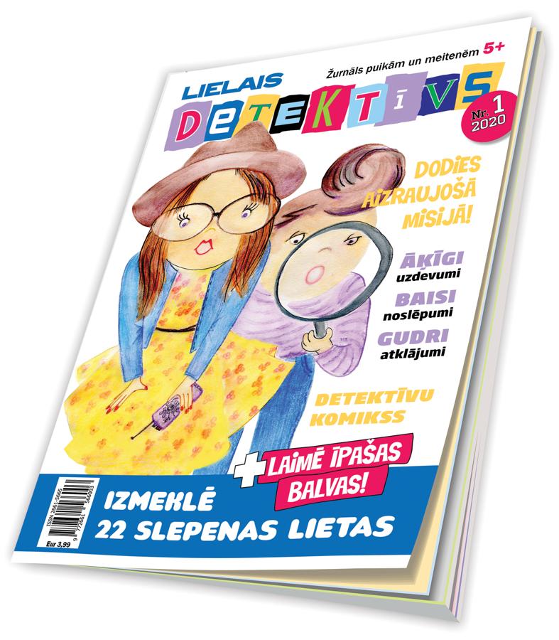 Lielais detektīvs - jauns žurnāls puikām un meitenēm no 5 gadu vecuma
